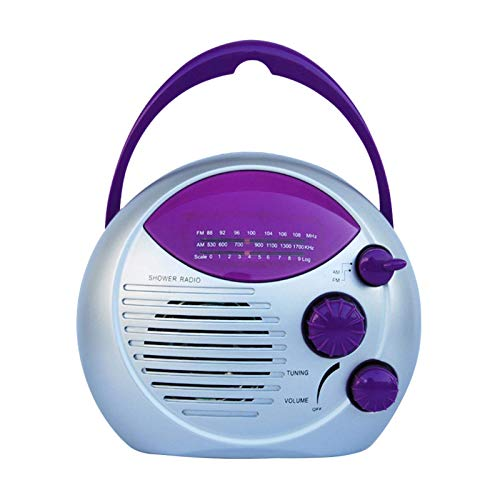 POHOVE Bluetooth Altavoz de Ducha Radio Colgante Impermeable Portátil Baño Ducha Altavoz...