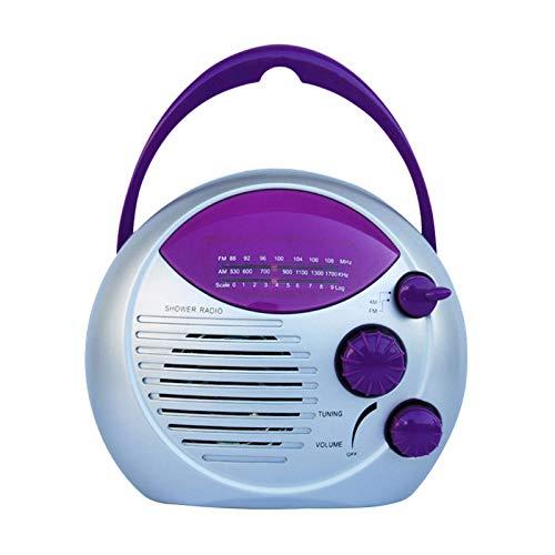 POHOVE Bluetooth Altavoz de Ducha Radio Colgante Impermeable Portátil Baño Ducha Altavoz con FM/Am Radio para el Hogar,Playa,Caliente Bañera, Baño, Exterior