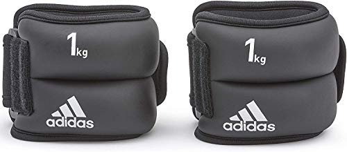 adidas Men's Ankle/Wrist Weights, Black (Black/White), 2 x 1 kg