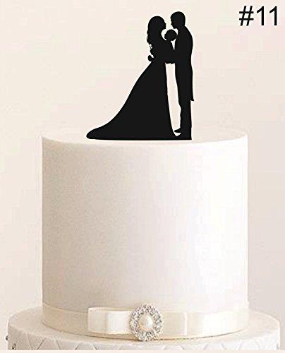 Cake Topper, Tortenstecker, Tortenfigur Acryl, Tortenständer Etagere Hochzeit Hochzeitstorte (Schwarz)