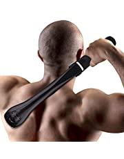Elektrisk rakapparat för män för rygg och kropp, stor rakhyvel med justerbar längd teleskophandtag för män rygg hår kropp trimmer borttagning. Justerbart skumhandtag