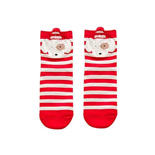 XdiseD9Xsmao Calcetines De Algodón Suaves Y Cálidos Renos De Navidad En 3D Patrón De Animales De Perro Calcetines De Medio Tubo Para Bebés Y Niños Perro#