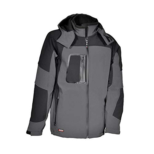 COFRA V101-0-04.Z44 SWEDEN Softshell Jacke, Anthrazit/Schwarz, Größe 44
