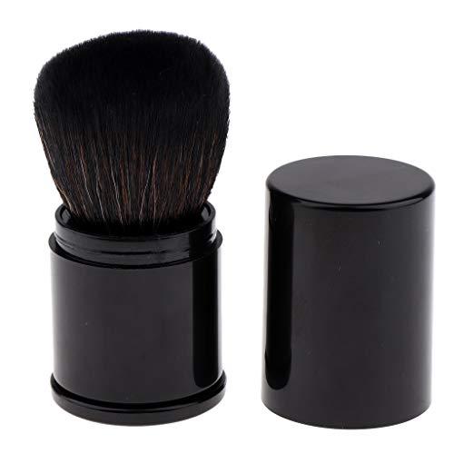MERIGLARE Pinceau de Maquillage, Brosses de Poudre avec étui Portable de Voyage - Noir