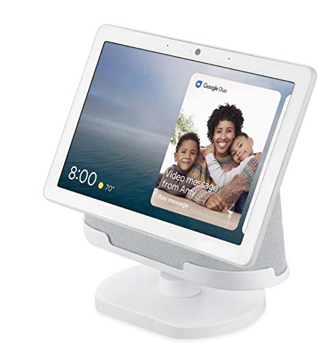 [Official Made for Google] Wasserstein Adjustable Stand Compatible with Google Nest Hub Max - Perfect Companion for Your Nest Hub Max (Chalk)
