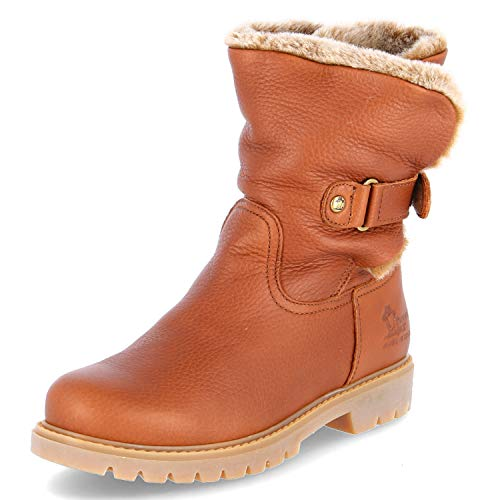 Panama Jack Felia Damen Warm gefüttert Biker Boots Halbschaft Stiefel & Stiefeletten, Braun (Bark B8), 38 EU