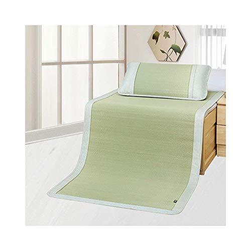 XHCmat Sommer Schlafmatte, Bambusmatte dreiteilig, doppelseitig rutschfest, zusammenklappbar, kühlend, Klimaanlage Matratze, für Küche, Bad, Garten, für Kinder (Farbe : B, größe : 1.8 * 2.15cm)