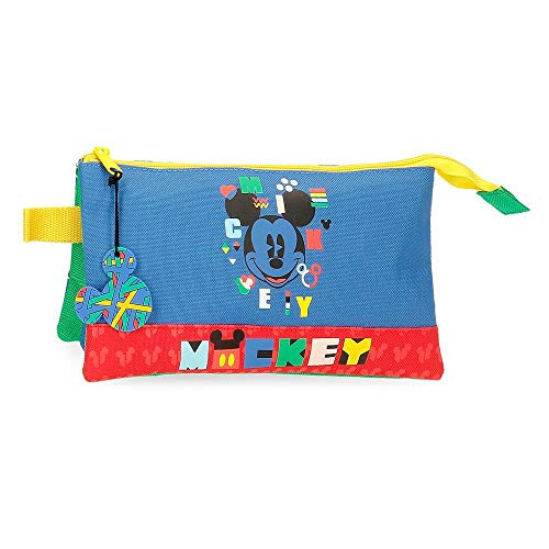 Disney Mickey Shape Shifter Estuche Triple Multicolor 22x12x5 cms Poliéster