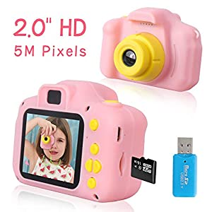 Rindol Toys for 4-9 Year Old Girls,Kids Camera Compact for Child Little Hands, Smooth Shape Toddler Camera,Best Birthday Gifts for 4 5 6 7 8 9 Year Old Girls from Rindol