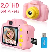 Rindol Toys for 4-9 Year Old Girls,Kids Camera Compact for Child Little Hands, Smooth Shape Toddler Camera,Best Birthday Gifts for 6 7 8 9 Year Old Girls