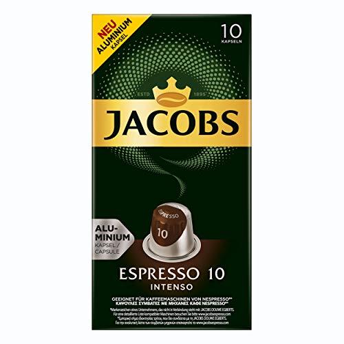 Jacobs Espresso 10 Intenso, Kaffeekapseln, Nespresso Kompatibel, Kaffee, 100 Kapseln, á 5.2 g