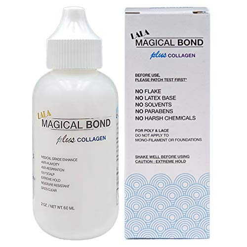 MAGICAL BOND Plus Collagen 2 oz. Extreme Hold. Adhesive for Lace Wigs and Hair Pieces. Lace Glue/Wig Glue/Hair Glue
