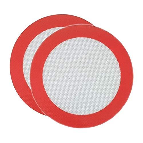Muskmelon Juego de 2 alfombrillas de silicona redondas reutilizables para hornear de 9 pulgadas, perfectas para hojas de hornear redondas de 9 pulgadas