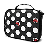 Ladybug Circle Texture Bolsa de Maquillaje portátil al Aire Libre, Linda Bolsa de cosméticos de Jirafa Organizador de Lavado de Viaje Bolsa de Aseo con Cremallera