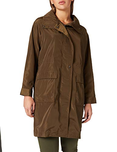 Springfield Parka Impermeable Chaqueta, Verde, 44 para Mujer