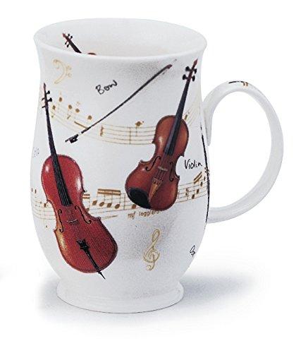 DUNOON beker Bone China instrumental muziek - viool & snaren