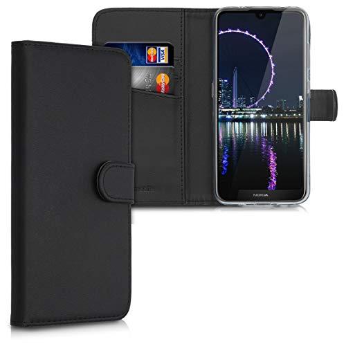 kwmobile Nokia 3.2 (2019) Custodia Portafoglio - Cover a Libro in Simil Pelle - Flip Case con Porta Carte per Nokia 3.2 (2019)