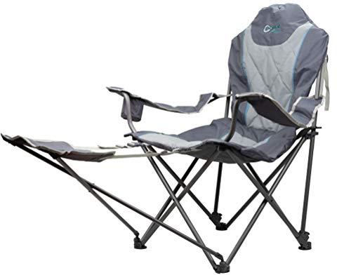 Portal, zusammenklappbar, tragbar, Unisex, Portal Outdoor-Sessel, zusammenklappbar, tragbar, stabil, bequem und inklusive Tragetasche, unterstützt bis zu 120 kg, blau, Einheitsgröße