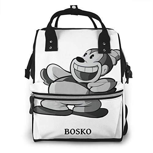 Bosko Looney Tunes - Mochila para mamás con estilo y multifuncional, para viaje