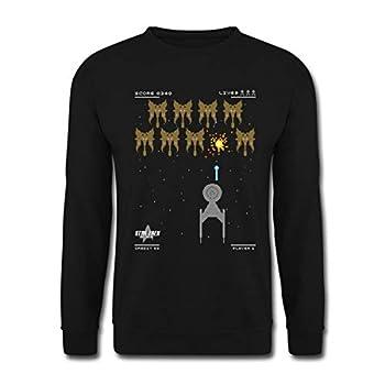 Spreadshirt Star Trek Discovery 8 Bit Jeu Vidéo Sweat-Shirt Unisexe, 3XL, Noir