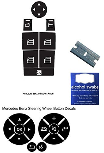 Mercedes Benz Steering Wheel Power Window Repair Kit Fix Your Worn Buttons Quick and Easy Most 2008-2014 W204 C250 C300 C350 E Class ML Class GL Class GLK Models