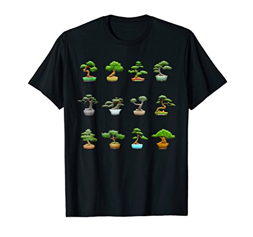 Bonsai Tree Collection Diversity T-Shirt I Buddhist Zen