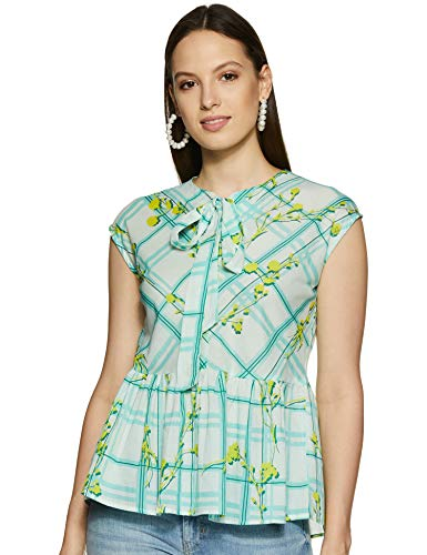 AND Women's Floral Regular fit Shirt (SS19AB033TV44ALIME8_Lime XS (8))