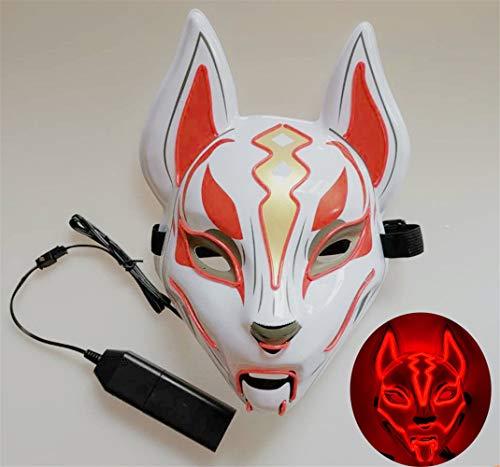 WYCY Led Light UP Máscara Zorro Línea neón Accesorios