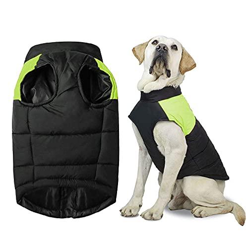 Shinmax Cappotto Cani di Piccola Taglia Impermeabile Giacca Invernale per Cani Foderata in Pile Il Calore Protezione Il Petto Palla Imbottita per Animali Domestici Cucciolo Gilet con Imbracatura a D
