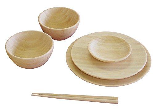 agney* お食い初め 6点セット 国産 天然竹製 食洗機対応 ノーマルタイプ