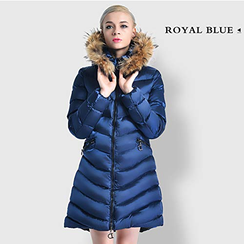 YGCLOTHES Dames Winter Long Down Jack, met Warm Hooded Down Padded Slim Down Coat, voor Dames Opvouwbare Windproof Ultra Casual Lichtgewicht Bovenkleding