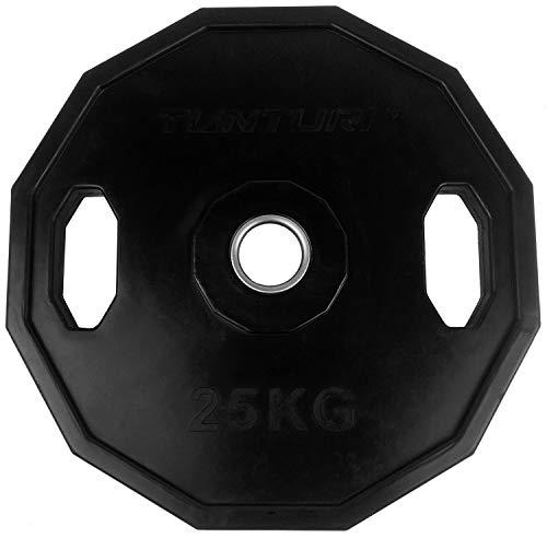 Tunturi Weight Plates Disco Olímpico, Unisex Adulto, Negro, 25 kg