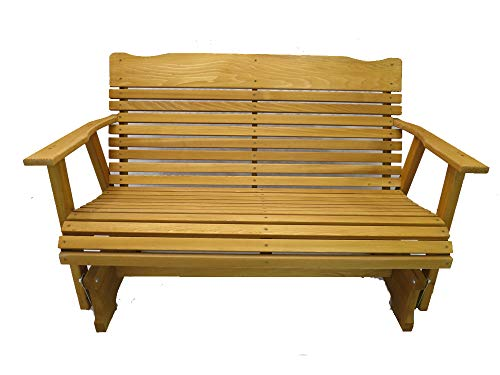 4 Foot Cedar Porch Glider, Stained Finish, Amish Crafted