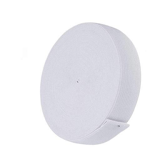 Gummiband Weiß 20mm Breit,Elastisches Band Elastische Gummiband für Nähen und Haushalt DIY Handwerk 11.5 Meter