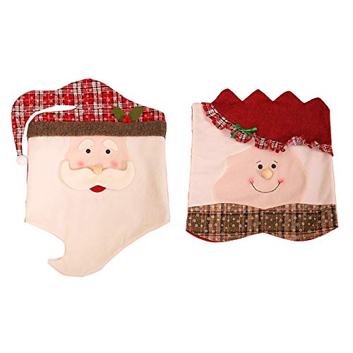 Camisin 2 piezas de fundas para sillas de Navidad, para decoración festiva