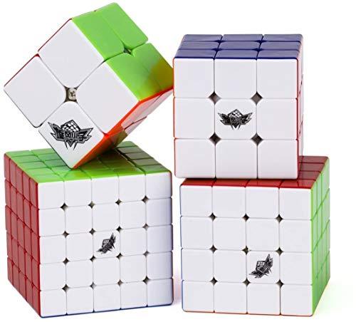 Vdealen Speed Cube Set, Cyclone Boys 2x2 3x3 4x4 5x5 Cubo Magico, Tornitura Facile & Gioco Regolare, Solid Durable & Superficie Stickerless Speedcube Rompicapo con Struttura Anti-Pop
