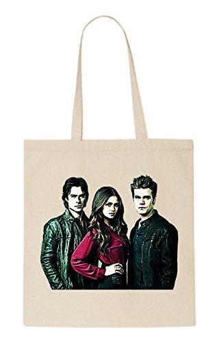 Vampire Diaries Funny natürliche organische Tasche / natural organic Bag (Beige