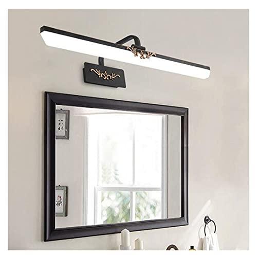 ZXQ Retro LED espejo de baño luz delantera de la vanidad luz de pared Aplique Lámparas de pared Espejo gabinete luz Maquillaje lámpara de iluminación para el hogar (70 cm, luz blanca)