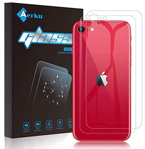 【2020年最新版】iPhone SE2 2020 専用 背面ガラスフィルム Aerku iPhone SE (第2世代・2020年発売モデル)フィルム 旭硝子製 9H硬度 防爆裂 気泡防止 ラウンドエッジ加工 iPhone SE 2020 背面保護フィルム(2枚セット)