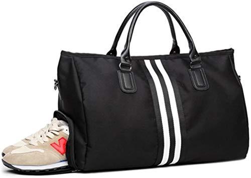 Multifunctionele Mannen sporttas reistas - Opvouwbare sporttas met schoenenvak voor mannen en vrouwen, Zwart