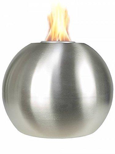 Pflanzwerk® Pflanzkübel Feuerschale Premium Edelstahl FEUERKUGEL *Indoor & Outdoor DEKOFEUER* *Rußfrei* *Rauchfrei* *Deutsche Qualitätsware*