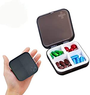 Tableta 7 d/ías Color al Azar Pastillero UCTOP STORE 2 Juegos de Funda de Viaje de Bolsillo tama/ño 7 Compartimentos Redondos semanales de Almacenamiento de Medicina Vitamina Organizador