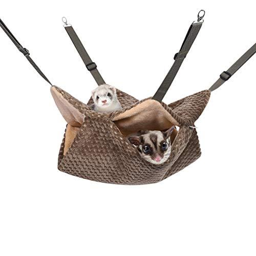 POPETPOP Hängematte für Kleintiere - Haustierkäfig Hängematten Schläfer Hängematte für Frettchen Ratten Maus Meerschweinchen Rennmaus Hamster Chinchillas Eichhörnchen