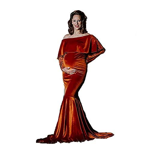 Gnohnay Vestido Elegante De Maternidad Fotografía Vestido De Novia para Sesión De...