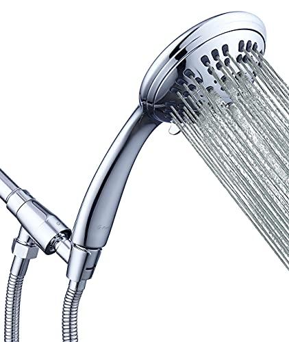 G-Promise High Pressure Shower Head 6 Spray Setting Hand...