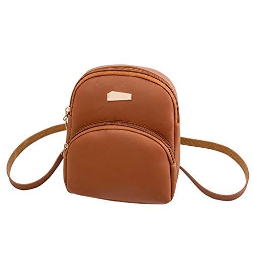 KUIGYI Damen Mini Umhängetasche Modische und elegante Umhängetasche für Mädchen Lässiger Lederhandtasche im Reißverschlussöffnung Mehrzweck Kann Handy Brieftasche Kosmetik Halten Hold
