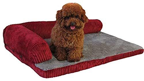 GJY Deluxe Extra Gran Memory Memory Foam Dog Sofa Colchón Fleece Fleece para Perros Grandes, Utilizando Espuma de Memoria Sólida de 5 cm,Medio
