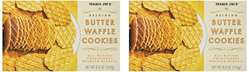 2 Packs Trader Joe's Belgian Butter Waffle Cookies-SET OF 2