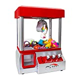 Bundaloo Claw Machine Arcade Game | Candy Grabber & Prize Dispenser Vending Machine Toy for Kids, with Music | Best Birthday & Christmas Gifts for Boys & Girls (Red Claw)