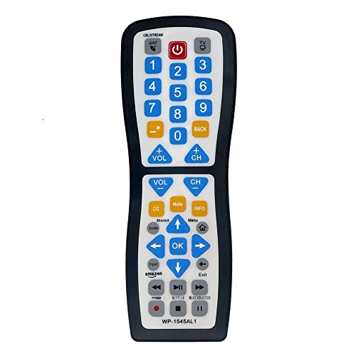 Luckystar 2 Device Universal Waterproof Easy Clean Remote Control Support for All Smart TV, LED/LCD TV, Apple TV,Vizio TV, LG, Samsung and Roku Player, BluRay DVD, Audio System